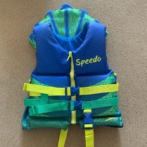 Speedo Boys Supersaurus life vest- Dark Blue